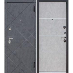 Входная дверь Бруклин (9 см, бетон пепельный)