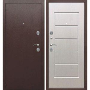 Входная дверь Гарда (7,5 см, медный антик, белый ясень)
