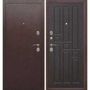 Входная дверь Гарда (8 мм, внутреннее открывание, венге)