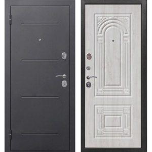 Входная дверь Гарда (Флоренция, 7,5 см, серебро, белый ясень)
