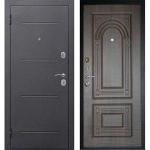 Входная дверь Гарда (Флоренция, 7,5 см, серебро, венге)