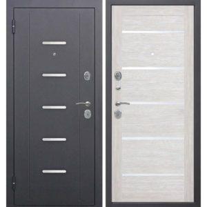 Входная дверь Гарда (муар, 7,5 см, лиственница мокко, царга)