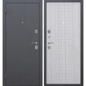 Входная дверь Гарда (муар, 8 мм, белый ясень)