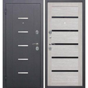 Входная дверь Гарда (муар, 7,5 см, лиственница бежевая, царга)