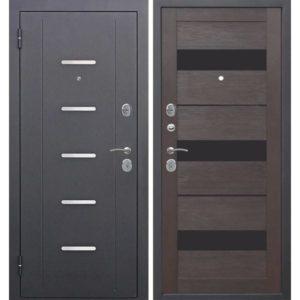 Входная дверь Гарда (муар, 7,5 см, тёмный кипарис, царга)