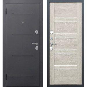 Входная дверь Гарда (серебро, 7,5 см, дуб шале белый вайт)