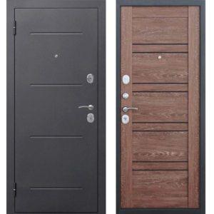 Входная дверь Гарда (серебро, 7,5 см, дуб шале корица)