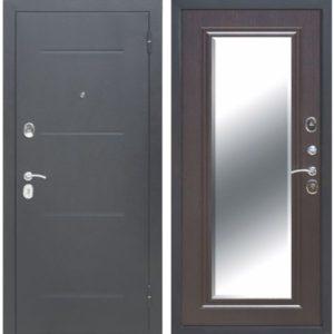 Входная дверь Гарда (серебро, зеркало фацет, венге)