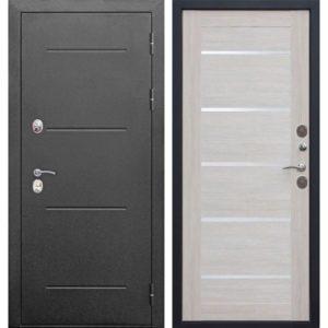 Входная дверь Isoterma (серебро, лиственница бежевая)