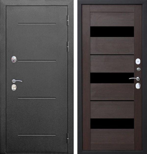 Входная дверь Isoterma (серебро, тёмный кипарис)