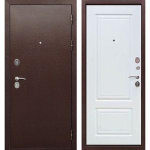Входная дверь Толстяк (10,5 см, медный антик, белый ясень)