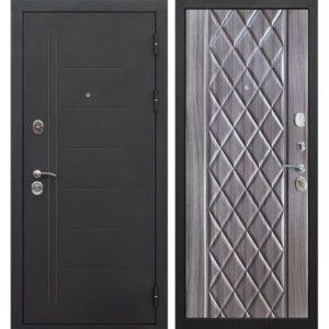 Входная дверь Троя (10 см, чёрный муар, палисандр тёмный)