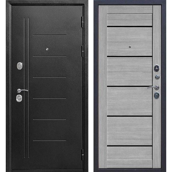 Входная дверь Троя (серебро, дуб дымчатый)