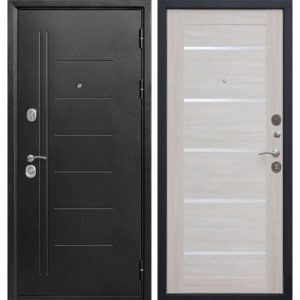 Входная дверь Троя (серебро, лиственница бежевая)