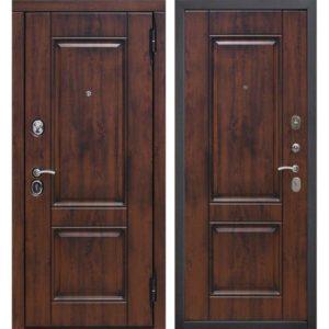 Входная дверь Вена (9,5 см, МДФ/МДФ, грецкий орех, грецкий орех, патина)