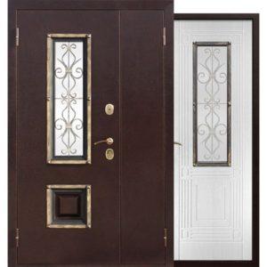 Входная дверь Венеция (белый ясень, 1200х2050 мм)
