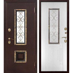 Входная дверь Венеция (белый ясень)
