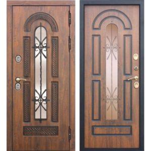 Входная дверь Vitra (патина, грецкий орех)