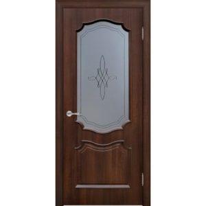 Межкомнатная дверь Schlager Elegance Риана T1 (тик, остеклённая)