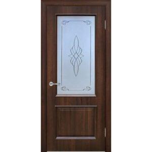 Межкомнатная дверь Schlager Elegance Вилора T1 (тик, остеклённая)
