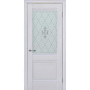Межкомнатная дверь Schlager Provence Доминик (белый матовый, остеклённая)