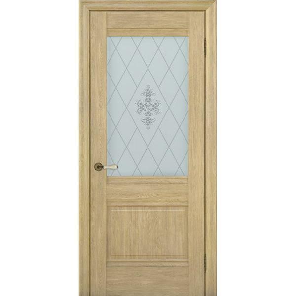 Межкомнатная дверь Schlager Provence Доминик (дуб натуральный, остеклённая)