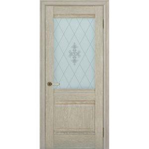 Межкомнатная дверь Schlager Provence Доминик (дуб седой, остеклённая)