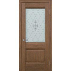 Межкомнатная дверь Schlager Provence Доминик (каштан, остеклённая)