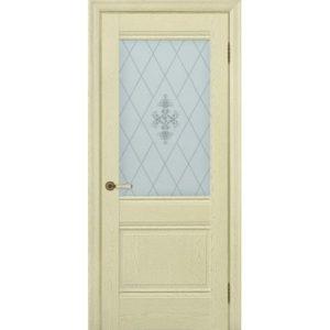 Межкомнатная дверь Schlager Provence Доминик (ясень патина, остеклённая)