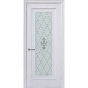 Межкомнатная дверь Schlager Provence Паскаль 1 (белый матовый, остеклённая)