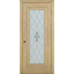 Межкомнатная дверь Schlager Provence Паскаль 1 (дуб натуральный, остеклённая)