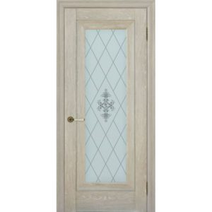 Межкомнатная дверь Schlager Provence Паскаль 1 (дуб седой, остеклённая)
