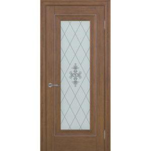 Межкомнатная дверь Schlager Provence Паскаль 1 (каштан, остеклённая)