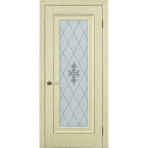 Межкомнатная дверь Schlager Provence Паскаль 1 (ясень патина, остеклённая)