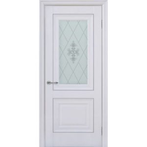 Межкомнатная дверь Schlager Provence Паскаль 2 (белый матовый, остеклённая)