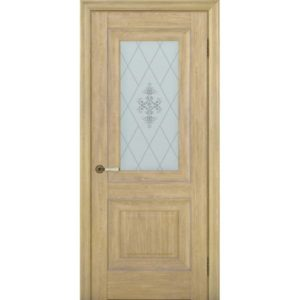 Межкомнатная дверь Schlager Provence Паскаль 2 (дуб натуральный, остеклённая)