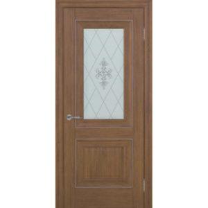 Межкомнатная дверь Schlager Provence Паскаль 2 (каштан, остеклённая)