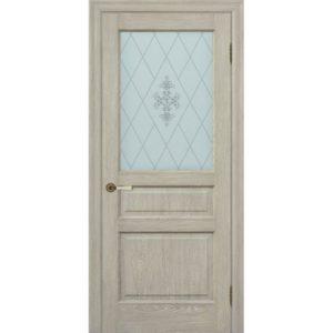 Межкомнатная дверь Schlager Provence Валери (дуб седой, остекленная)
