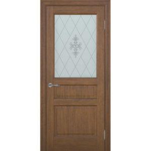 Межкомнатная дверь Schlager Provence Валери (каштан, остеклённая)