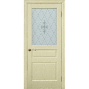 Межкомнатная дверь Schlager Provence Валери (ясень патина, остеклённая)