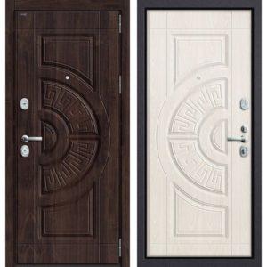 Входная дверь Groff P3-302 (тёмная вишня, белёный дуб)