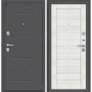 Входная дверь Porta S 104.П22 (антик серебро, бьянко вералинга)