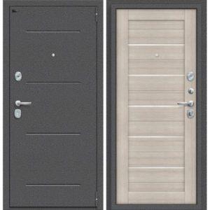 Входная дверь Porta S 104.П22 (антик серебро, капучино вералинга)