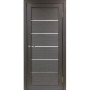 Межкомнатная дверь Optima Porte Турин 501.1 (АПП молдинг SC, венге, глухая)