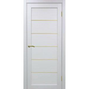 Межкомнатная дверь Optima Porte Турин 501.1 (АПП молдинг SG, белый монохром, глухая)