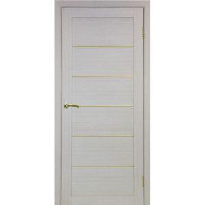 Межкомнатная дверь Optima Porte Турин 501.1 (АПП молдинг SG, дуб белёный, глухая)