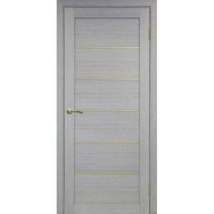 Межкомнатная дверь Optima Porte Турин 501.1 (АПП молдинг SG, дуб серый, глухая)