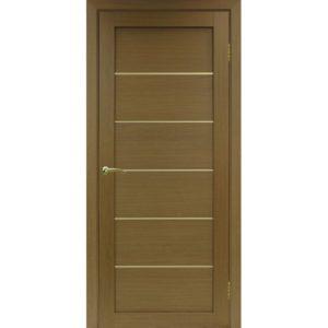 Межкомнатная дверь Optima Porte Турин 501.1 (АПП молдинг SG, орех, глухая)