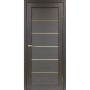 Межкомнатная дверь Optima Porte Турин 501.1 (АПП молдинг SG, венге, глухая)