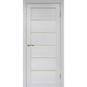 Межкомнатная дверь Optima Porte Турин 501.1 (АПП молдинг SG, ясень серебристый, глухая)